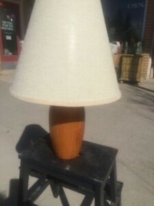 Mid Century Modern Teak Table Lamp $125.