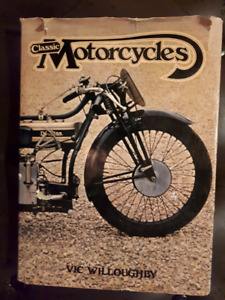 3 older motorcycle picture books and manuals