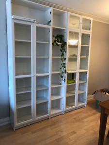 BILLY/OXBERG bookcase with glass doors