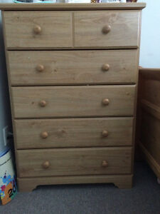 Twin size bed and chest
