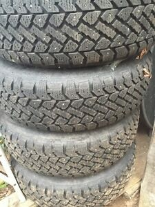 New Studded snow tires