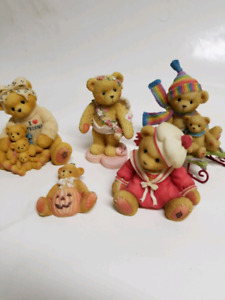 Cherished teddies lot of 6. Candace not in pics. One box. Mint
