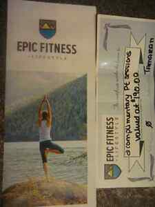 EPIC Fitness 2 Complimentary Personal Trainer Sessions $190value