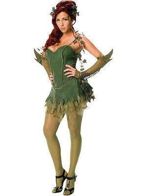 Adult Poison Ivy Fancy Dress Batman Villain Costume Ladies Womens Female BN (Female Batman)