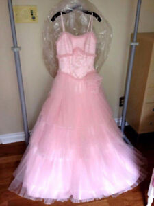 Adult pink princess fairy dress gown costume