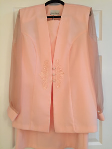 3 Piece Peach/Coral Woman's Suit (Tall)