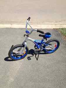 "SOLD Blue kids bike with 16"" wheels"
