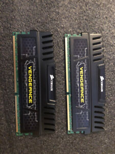 2 Corsair Vengeance DDR3 4 Gb memory sticks