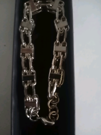 Silver filled luxury 3d cage bracelet new 8inches