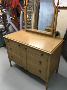 Antique Dresser and Bed Frame Bell Southampton Double Bed