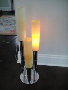 Mid Century Retro Vintage Chrome Bamboo Style Table Lamp Kitchener / Waterloo Kitchener Area image 4