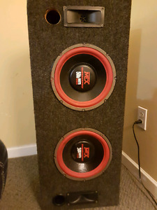 """2x10"""" subs mounted w/box and amp. Must go today 250-667-0920"""