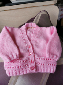 NEW - Baby Girl's Hand Knitted Cardigan