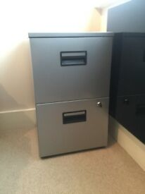 A4 Metal 2 Drawer Filing Cabinet VGC