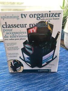 Spinning tv organizer