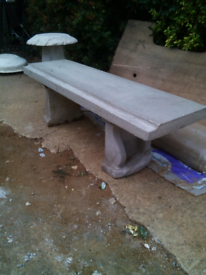 4ft concrete bench