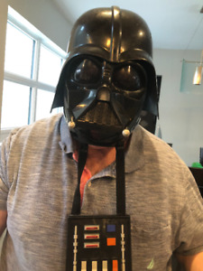 Deluxe Darth Vader Mask and two costumes