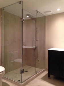 Frameless Shower Glass Doors Enclosures bathtubs - Mirrors etc. Kitchener / Waterloo Kitchener Area image 2