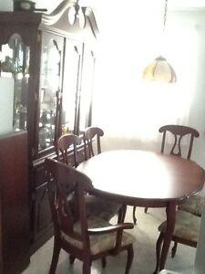 "Set salle manger/cuisine ""BERMEX"" + buffet, bois franc cerisier"