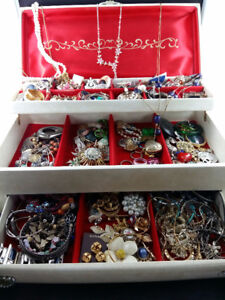 Vintage Jewellery Box Filled with Treasure