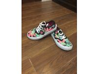 Girls floral summer vans trainers size 13