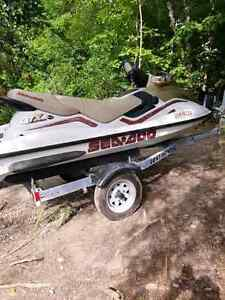 1999 Seadoo Gtx with double trailer