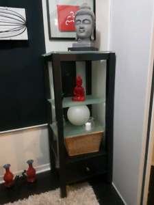 Smoke glass shelf unit for sale 2 pieces