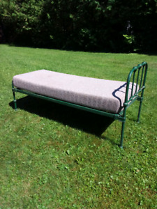 Antique childs iron bed