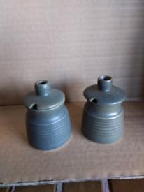 Denby/Langley mustard pots