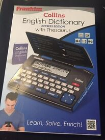 BRAND NEW SEALED Collins English Dictionary Express Edition with Thesaurus