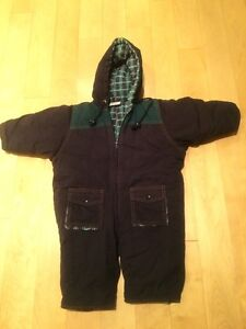 Kid cold weather suit, cotton 9-12m