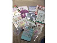 Christmas craft cd's and stamps.