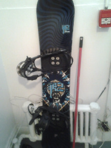"k2 fuse snowboard ""rocker paint"" + K2 tech bindings"