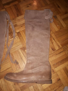 Frye leather riding boots vintage womens - 7 1/5