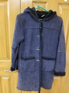 Morelli Girl's Shearling Winter Coat Size 12 Pre-Owned