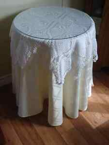 Accent Table, Garbage Container, Photo Stand, Collectable Plates
