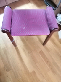 Arm chair and foot stool