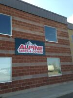 Alpine Tarps is looking for a person to help out with repairs.