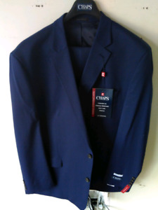 Mens suit jacket 56L pant 44 blue