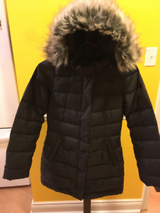 Like New Ladies The North Face Winter Parka xs Black 600 fill