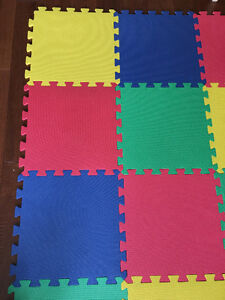 Baby Floor Play Mat + 12 Foam Floor Tiles