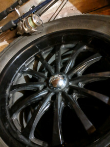Four rims and tires for sale