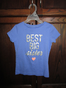 """Carter's """"Best Big Sister"""" t-shirt in size 6X *barely worn"""
