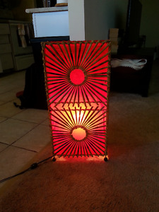 Red bamboo decorative lamp