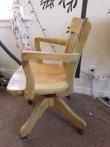 Vintage wood office chair for sale Kawartha Lakes Peterborough Area image 3
