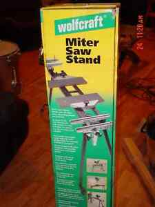 WOLFCRAFT MITER SAW STAND BRAND NEW NEVER BEEN USED.