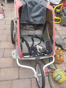 Chariot double running stroller