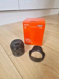 SONY 35mm f 1.8 oss camera lense