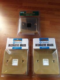 Decorative dockets/ brass