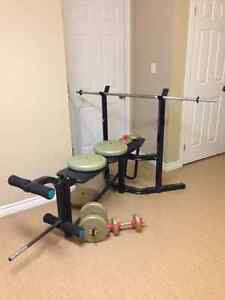 Home Gym: York Bench & Weights